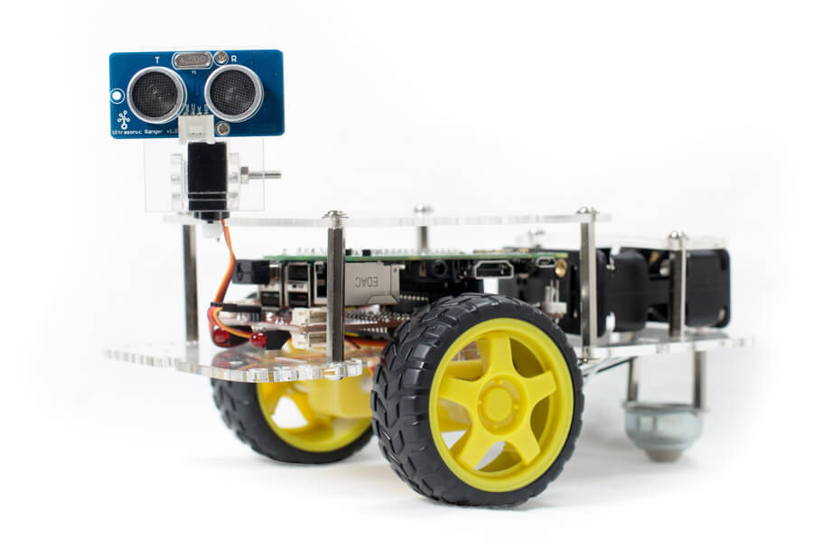 GoPiGo with Servo and Ultrasonic facing
