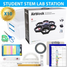 Exploring Coding and Aeronautics with AirBlock Drone STEM Lab 10 Pack