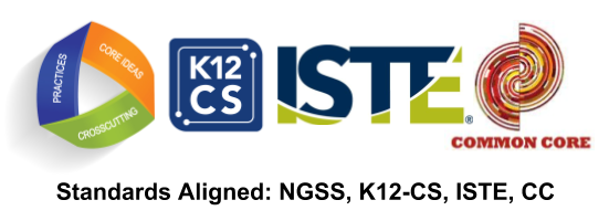 Standards aligned to NGSS CS ISTE CC